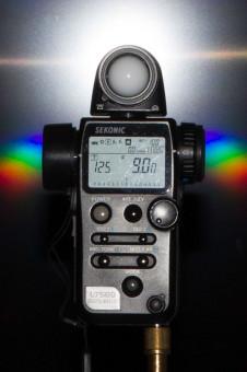 Leistung des Speedlite 270EX bei 28mm: Blende 9