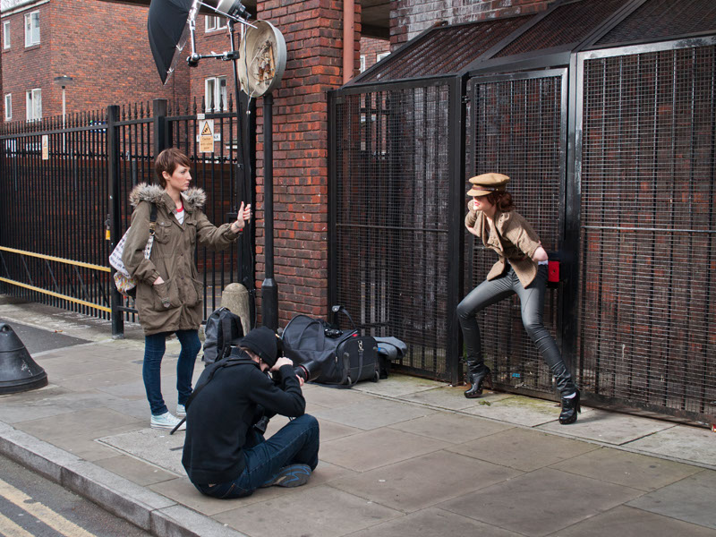 Lichtsetup London Fashion Shoot Making of