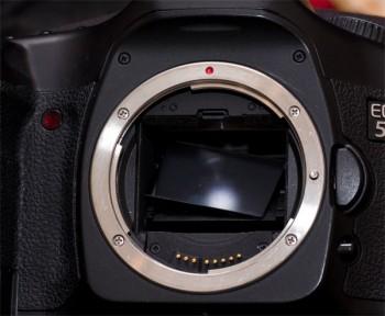 Gar nicht schön: Defekter Spiegel an der EOS 5D