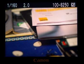 Bild auf dem Display der EOS 40D (sRGB)