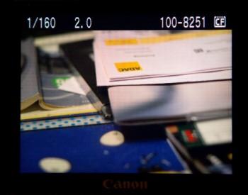 Bild auf dem Display der EOS 40D (AdobeRGB)