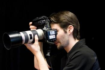 Michael Gelfert bei der Arbeit im Studio