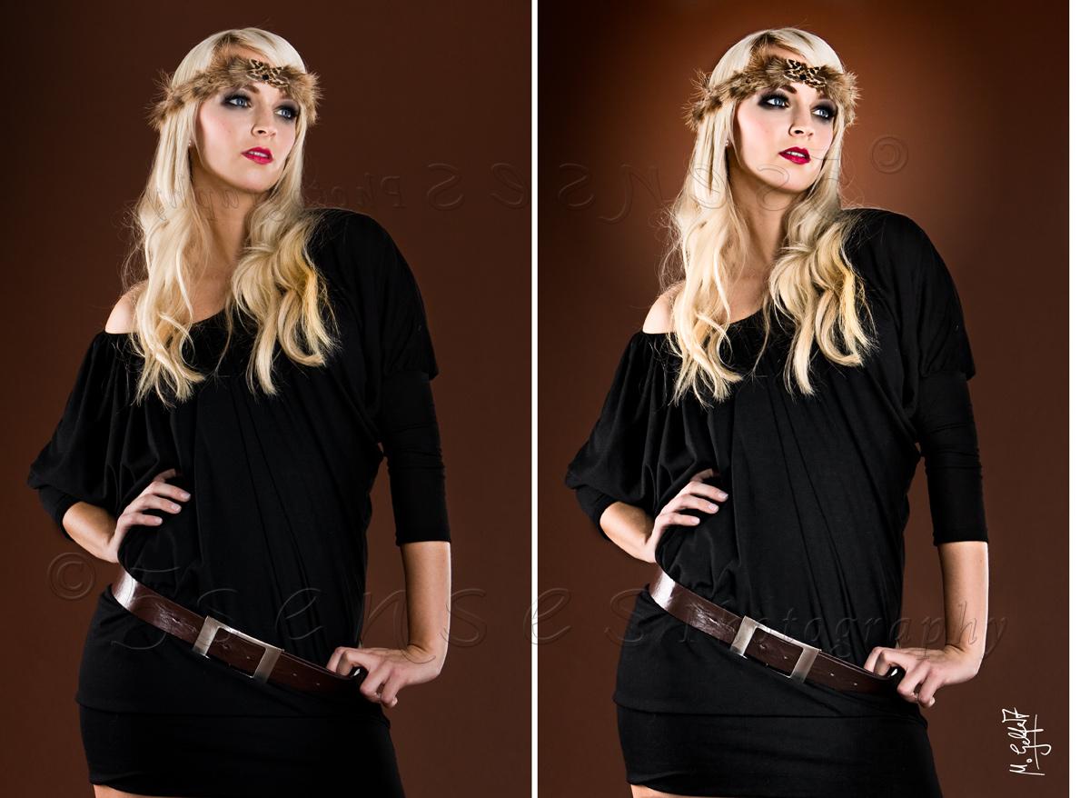 Ein Bild aus dem selben Shooting - vor und nach Photoshop.